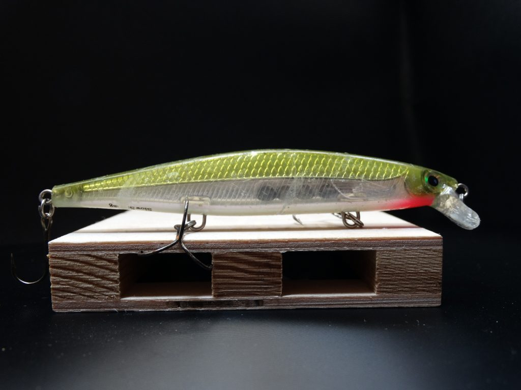 Jerkbait rapala shadow rap color olive green, accion slow sinking